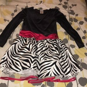 Black White And Red Little Girls Dress